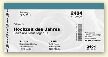 Schön Einladung Hochzeit Ticket U2013 Ledeclairage, Einladungs
